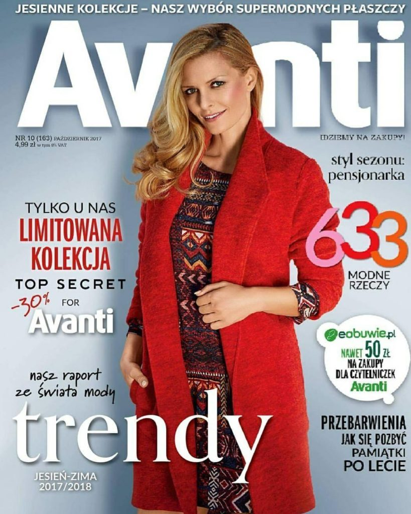 Kasia on the cover of Avanti