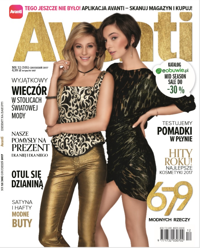Magda on the cover of Avanti