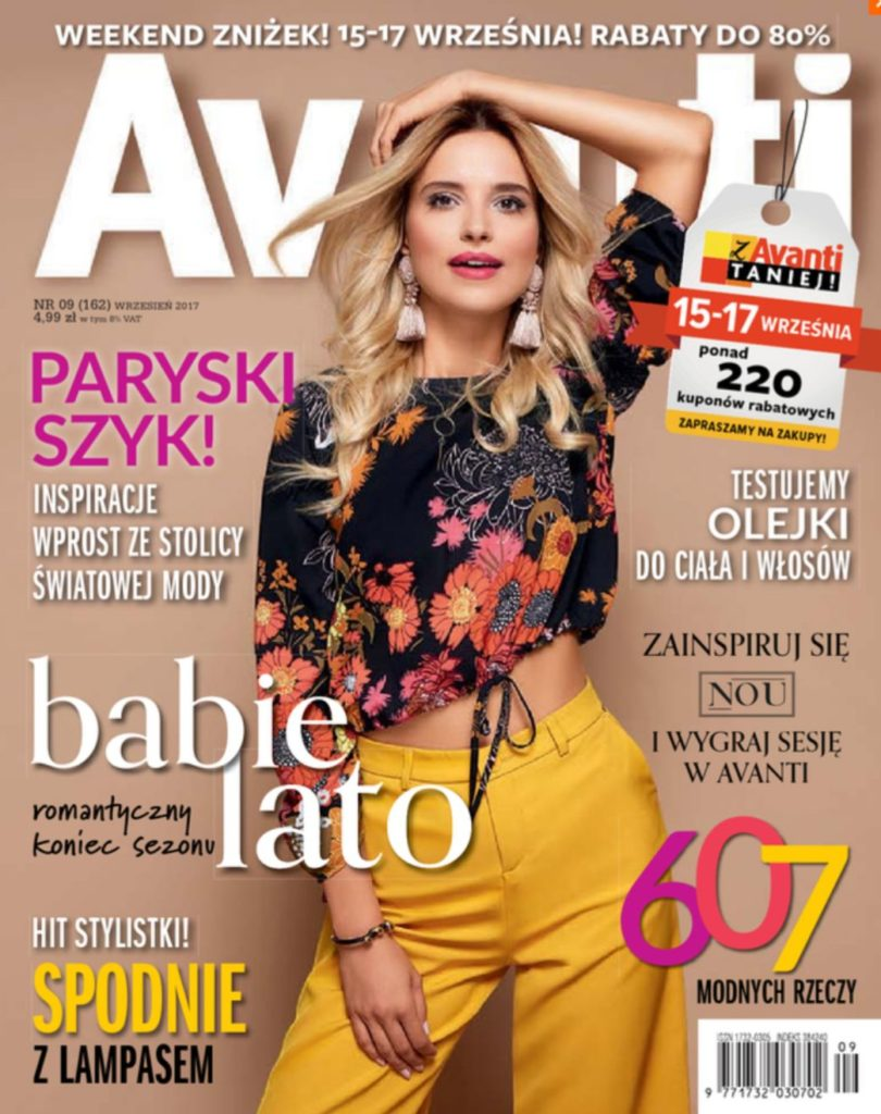 Milena on the cover of Avanti