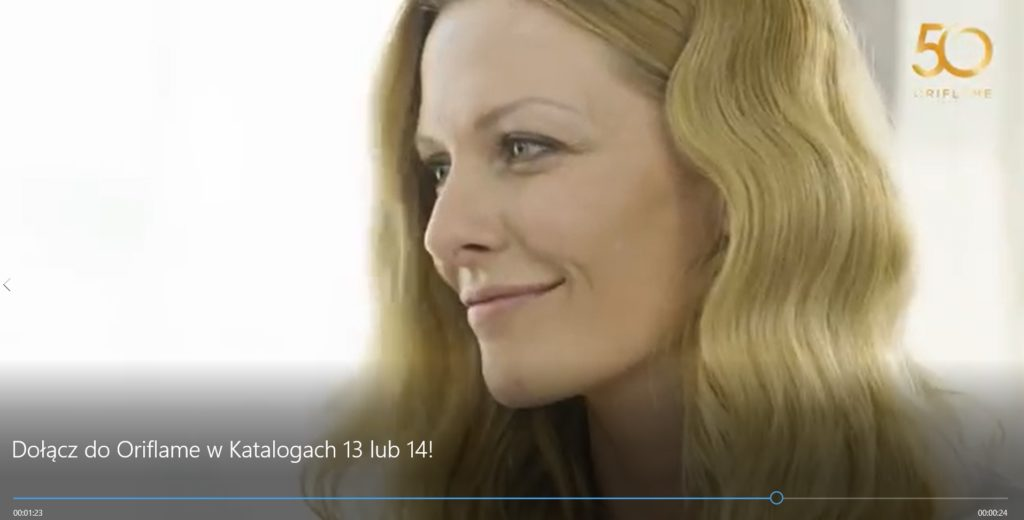 Kasia for Oriflame TV Commercial