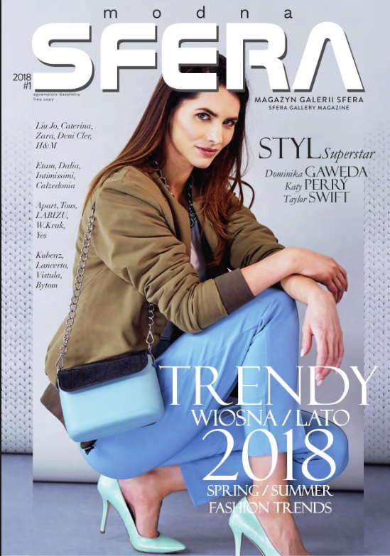 Gosia on the cover of Sfera Magazine